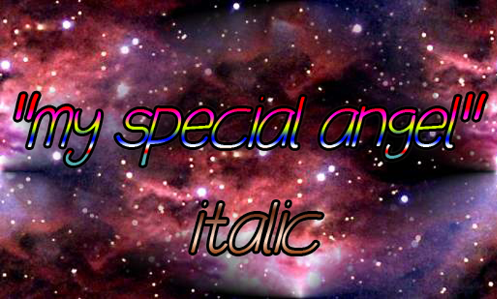 my special angel Font poster