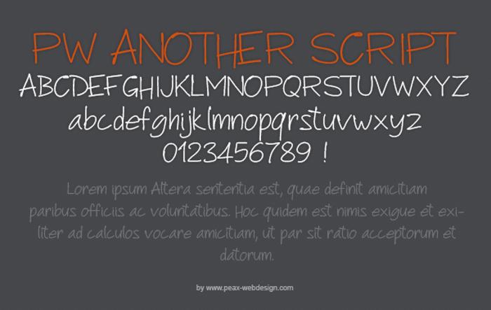 PWAnotherScript Font poster