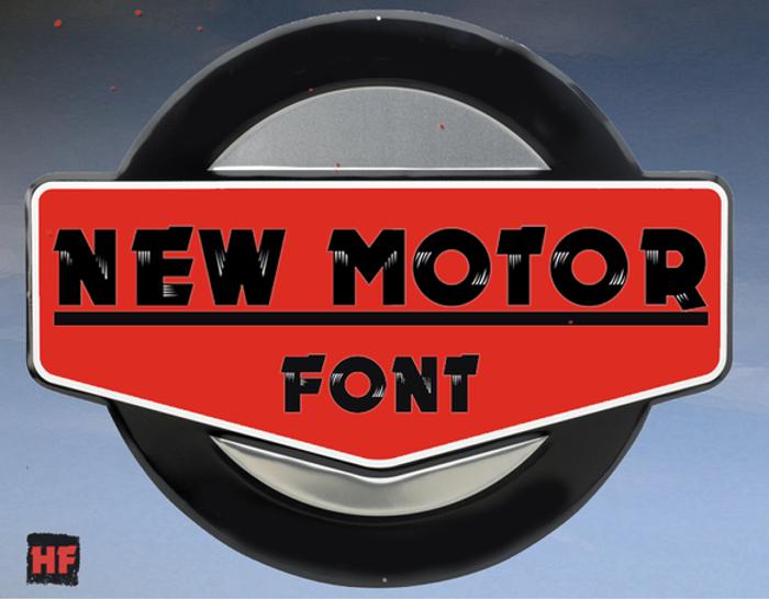 New MOTOR Font poster