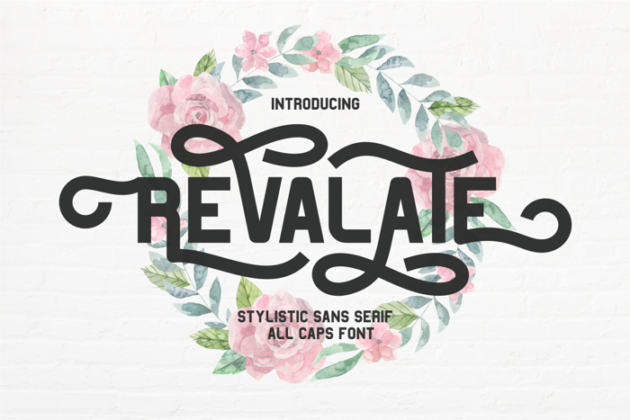 Revalate Font poster