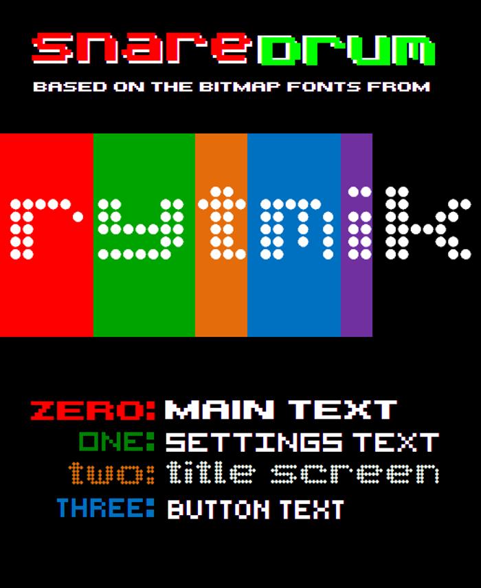 SnareDrum One NBP Font poster