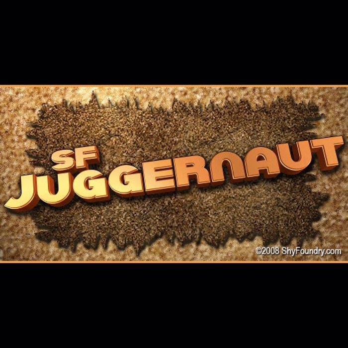 SF Juggernaut Font poster