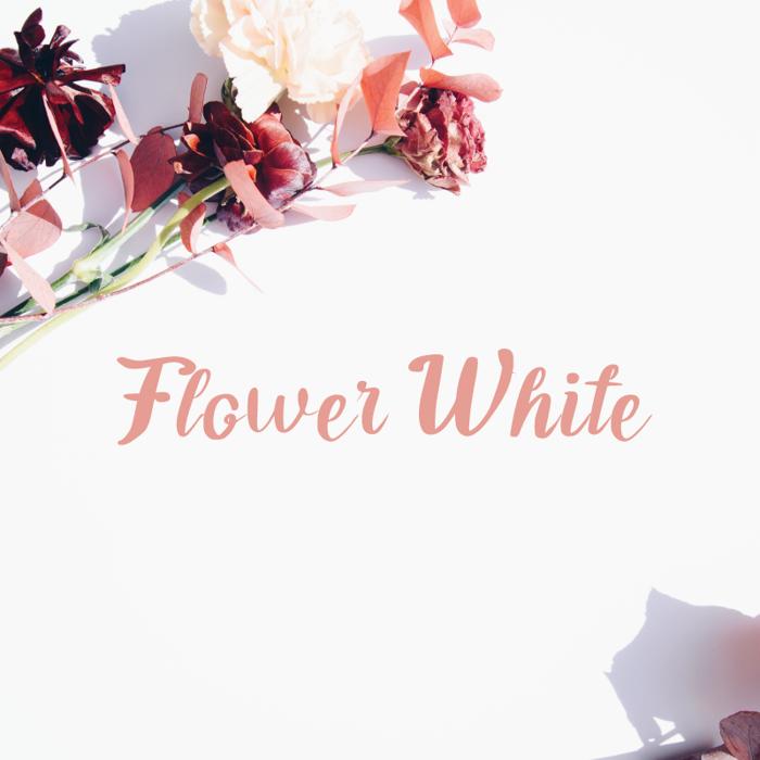 Flower White Font poster