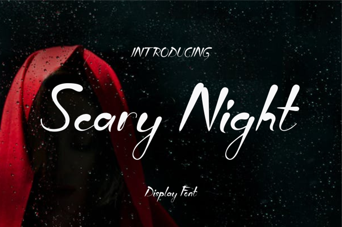 Scary Night Font poster