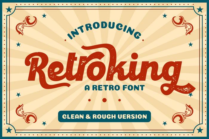 Retroking Font poster