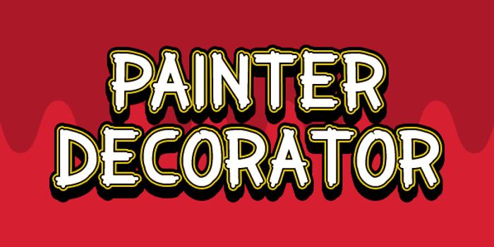 Painter Decorator Font poster