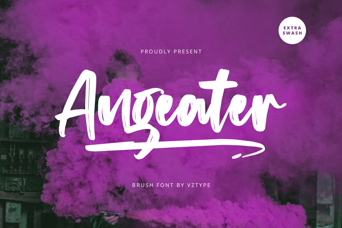 Angeater Font poster
