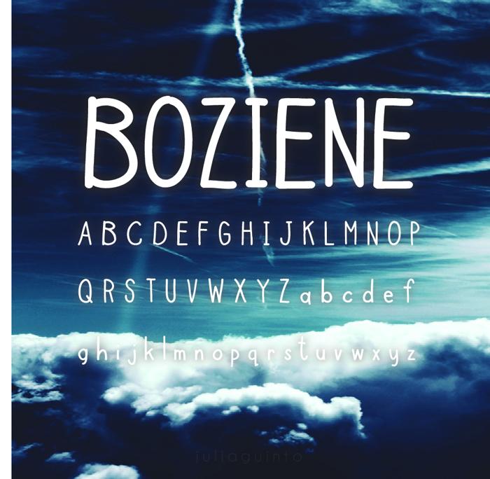 Boziene Font poster