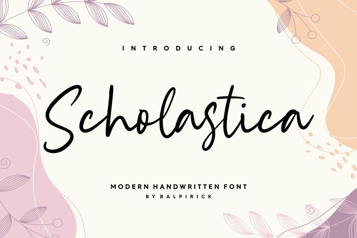 Scholastica Font poster