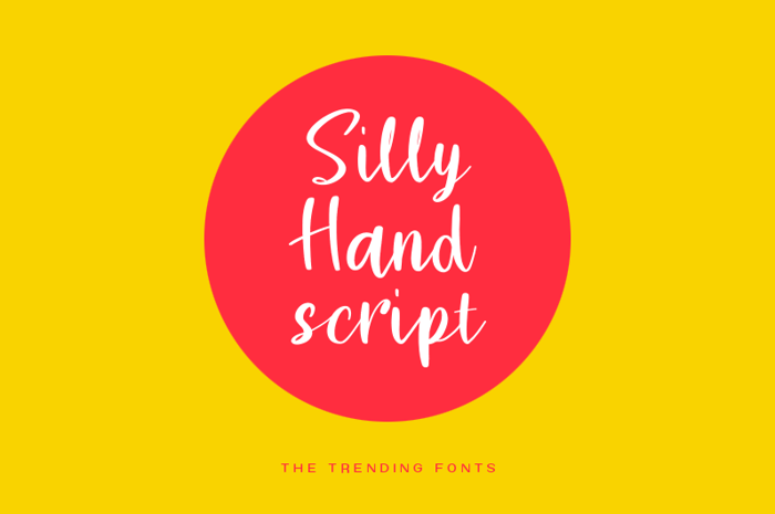 Silly Hand Script Font poster