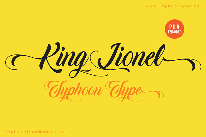 King Lionel (Personal Use) Font poster