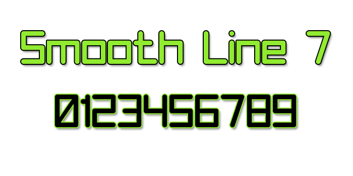 Smooth Line 7 Font poster
