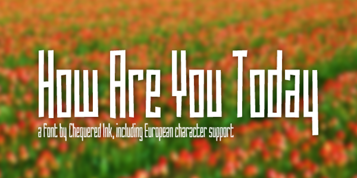 How Are You Today Font poster