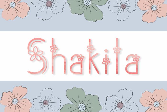 Shakila Font poster