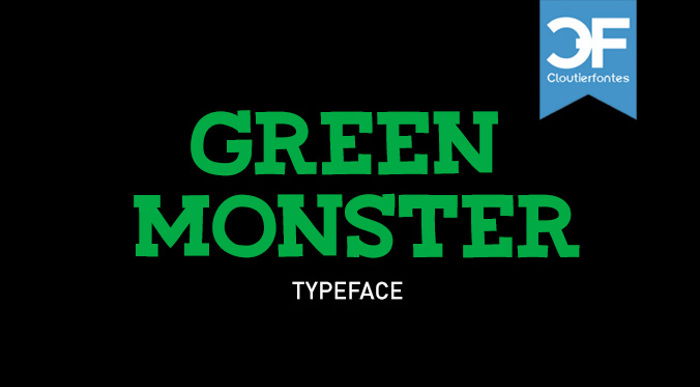 CF Green Monster Font poster