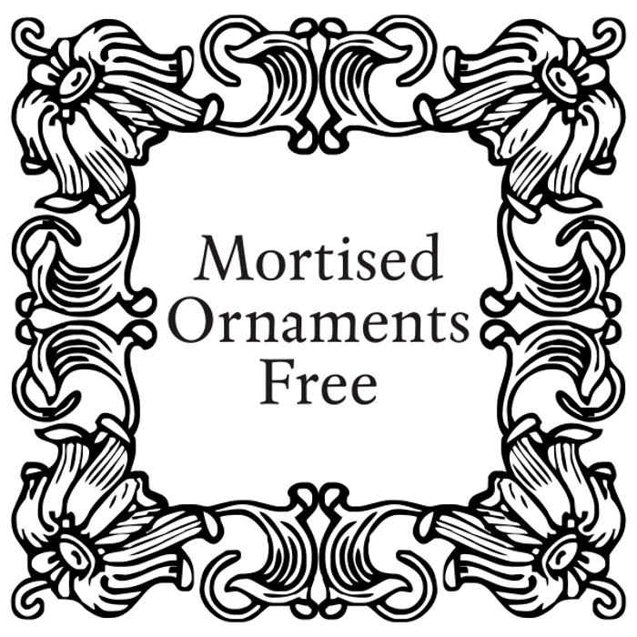 Mortised Ornaments Free Font poster