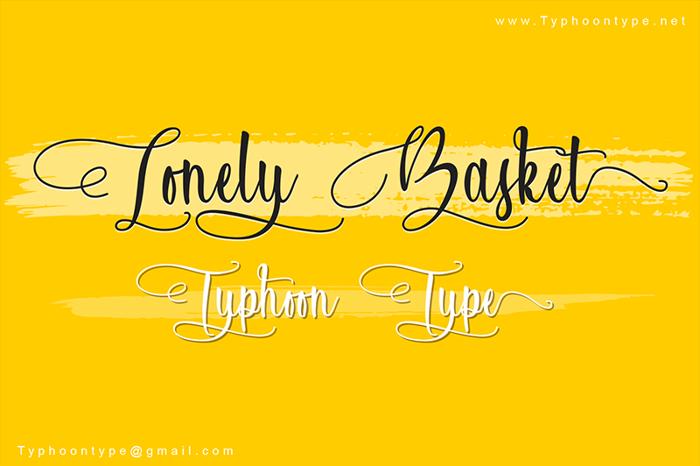 Lonely Basket Font poster