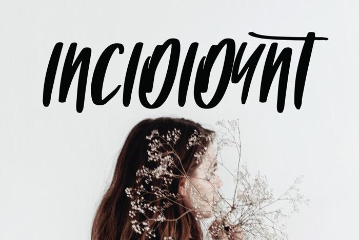 INCIDIDUNT Font poster