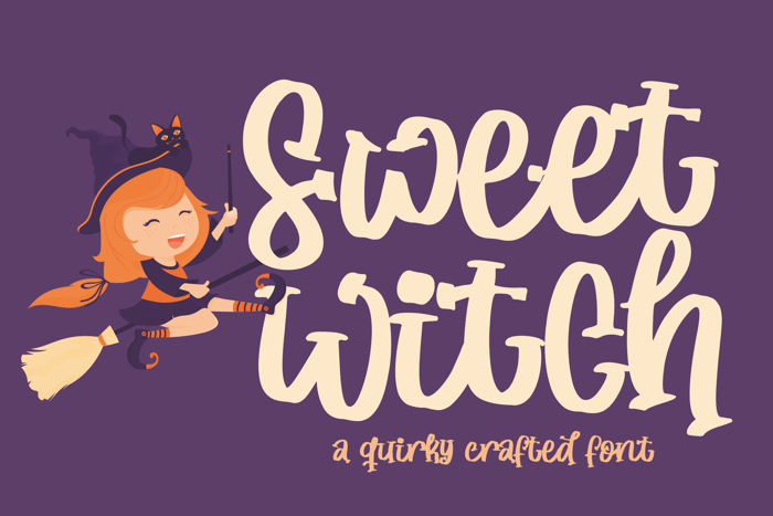 Sweet Witch Font poster
