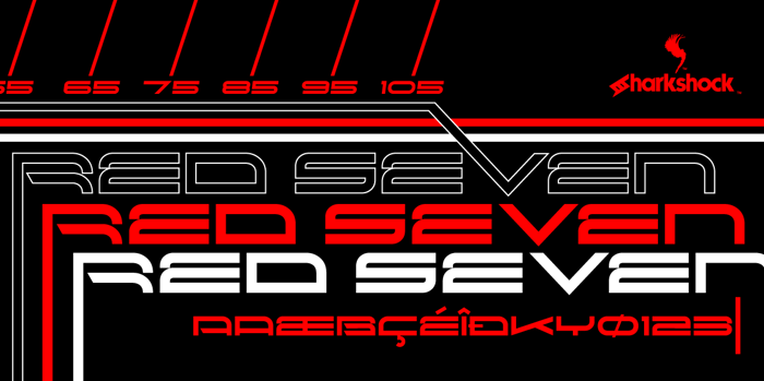Red Seven Font poster