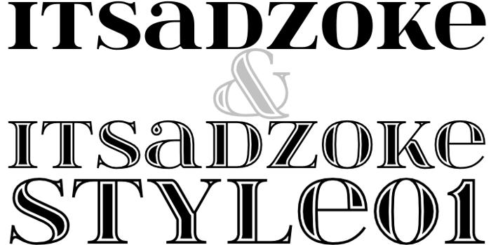 itsadzoke Font poster
