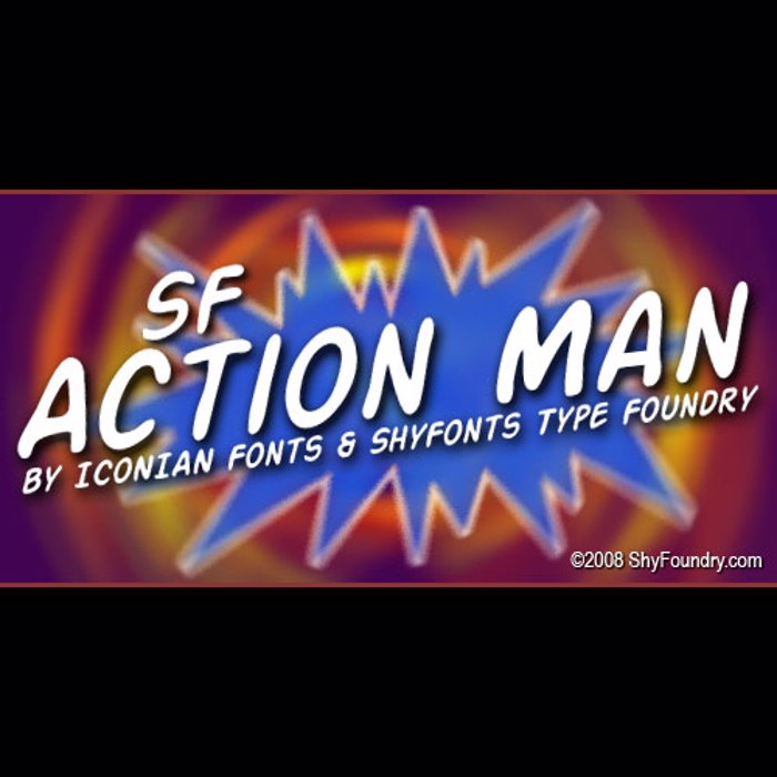 SF Action Man Font poster