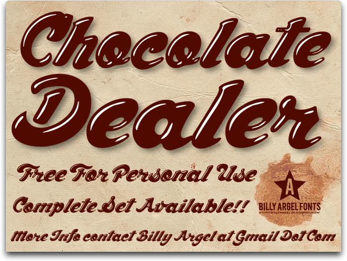 Chocolate Dealer Font poster