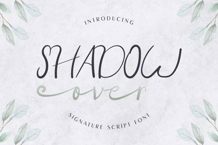Shadow Over Font poster