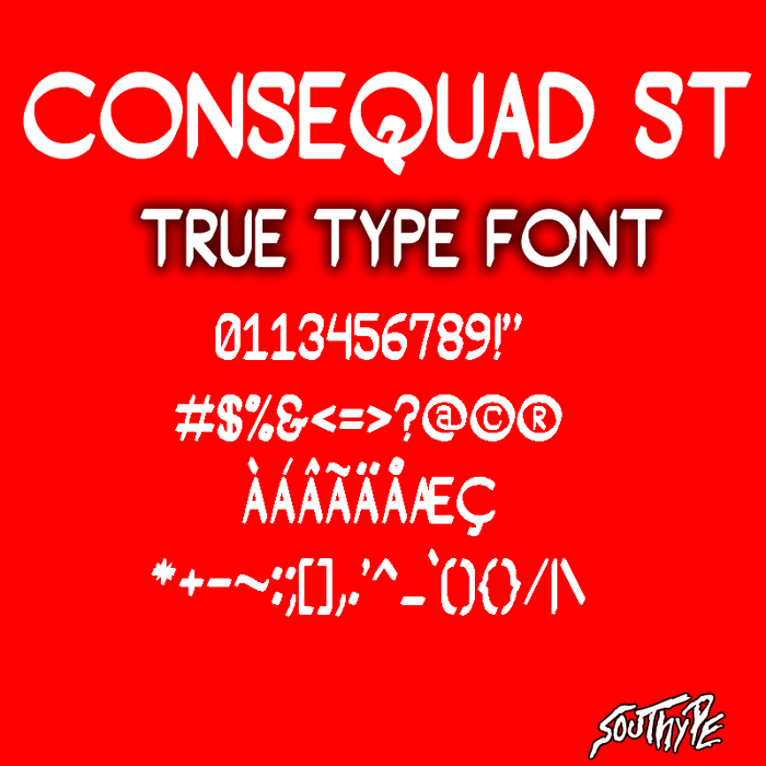 Consequad St Font poster