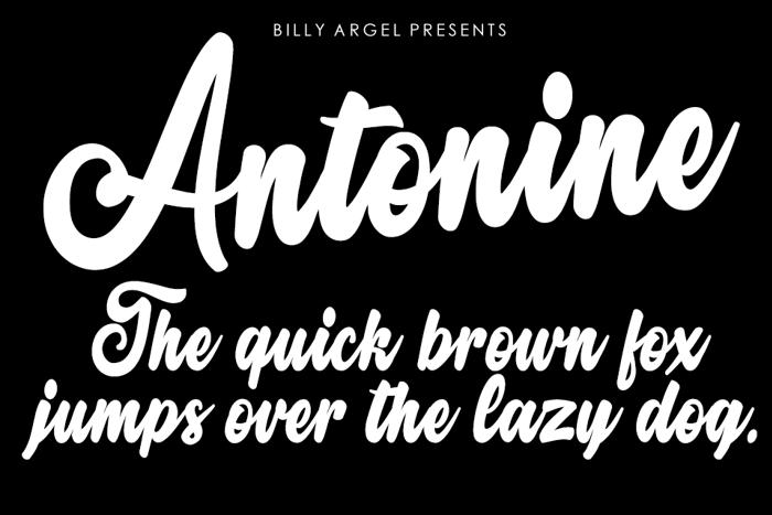 Antonine Font poster