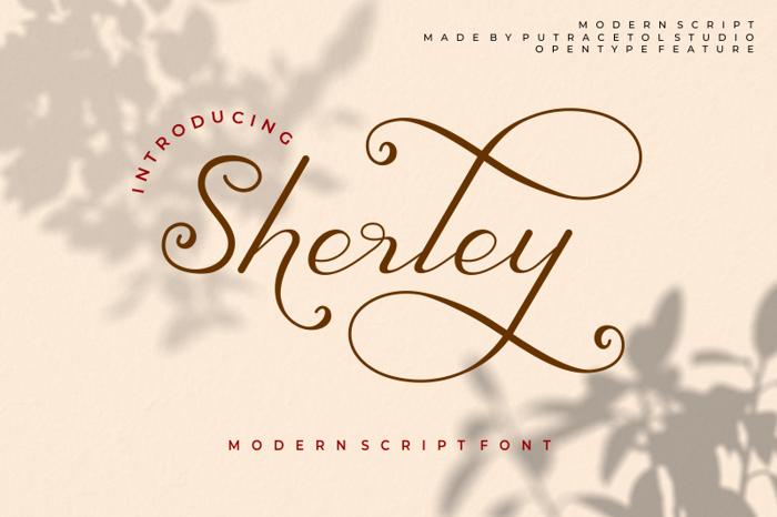 Sherley Font poster