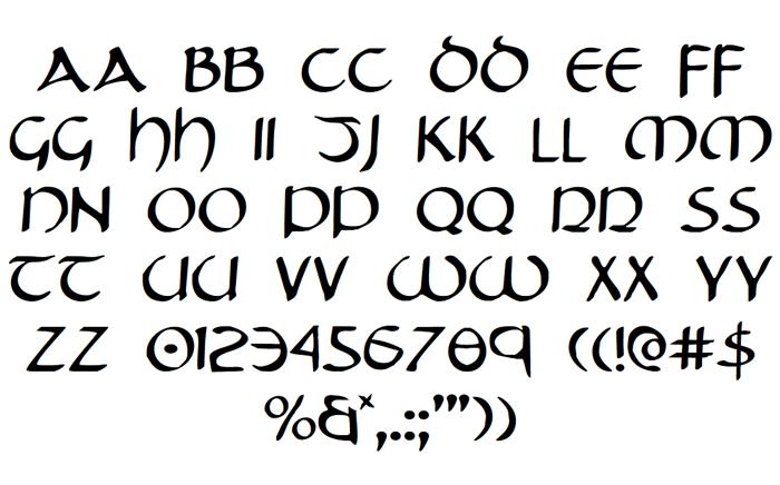 Tristram Font poster