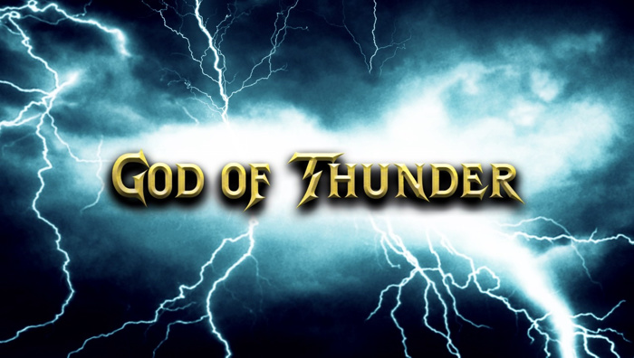 God of Thunder Font poster
