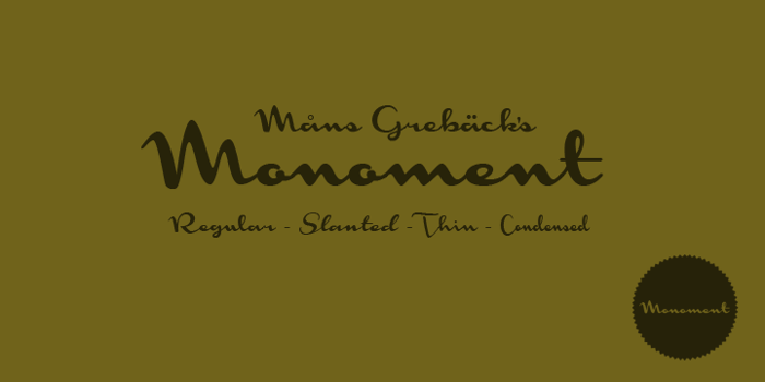 Monoment Font poster