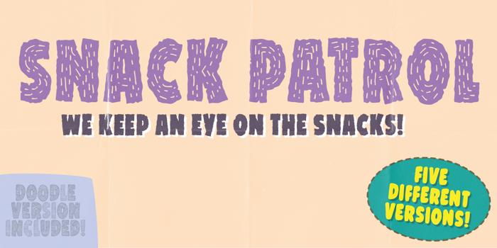 Snack Patrol DEMO Font poster