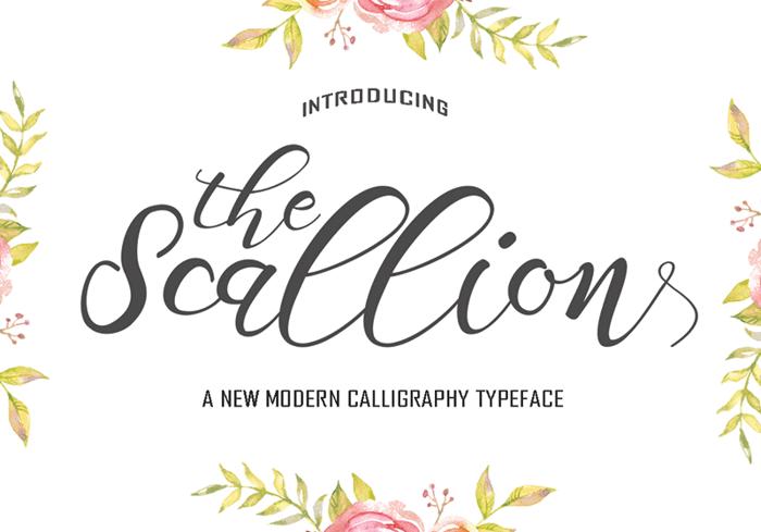 Scallion Font poster