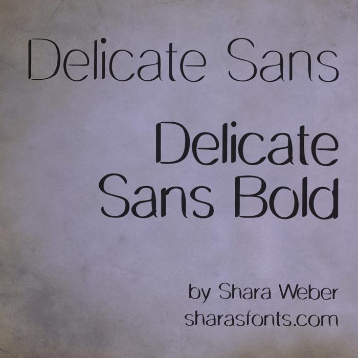Delicate Sans Font poster