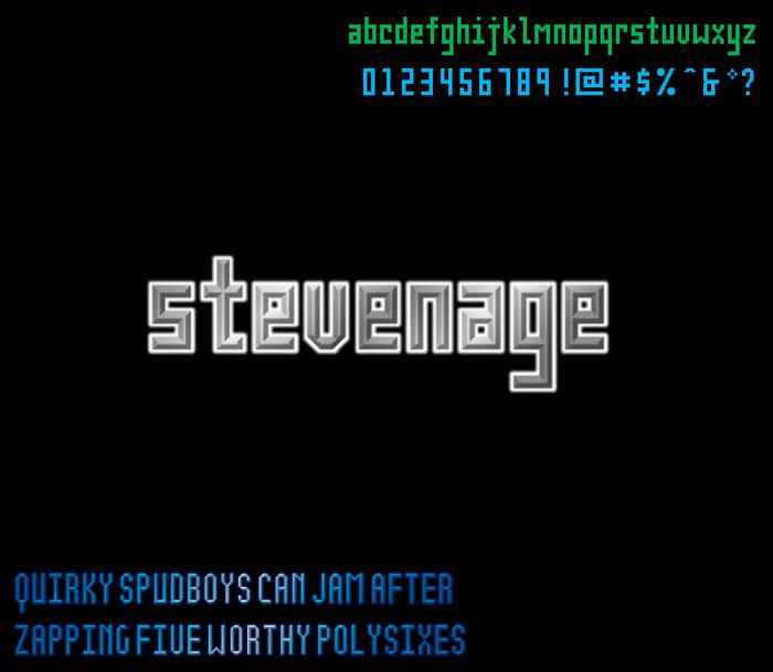 Stevenage NBP Font poster