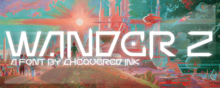 Wander Z Font poster
