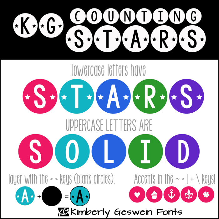 KG Counting Stars Font poster