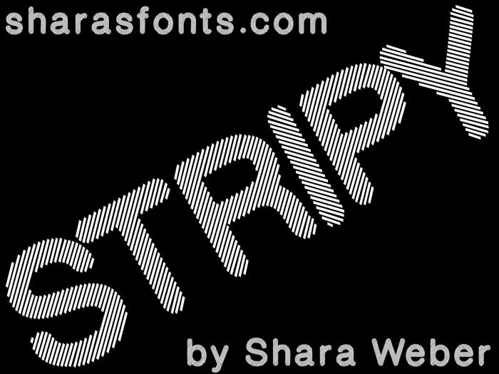 Stripy Reg Font poster