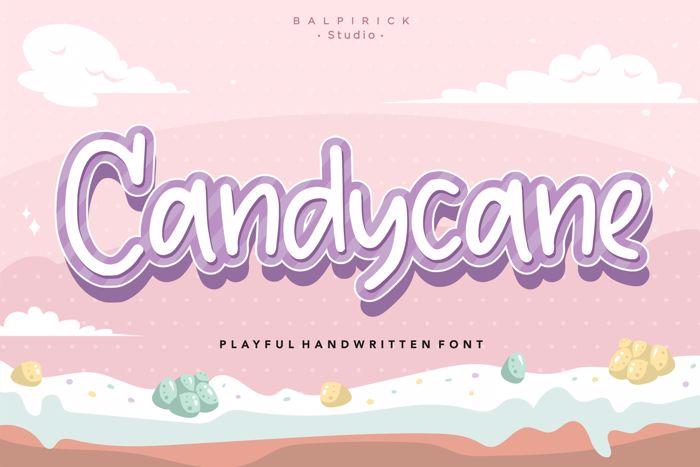 Candycane Font poster