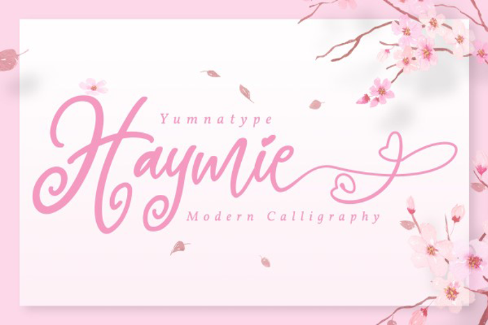 Haymie Font poster