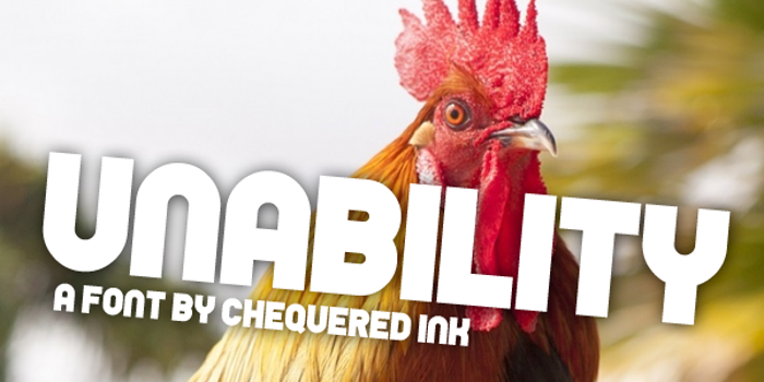 Unability Font poster
