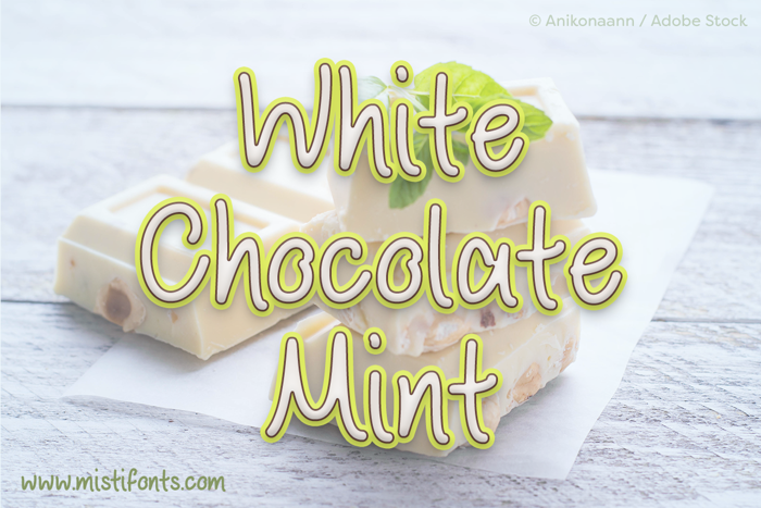 White Chocolate Mint Font poster