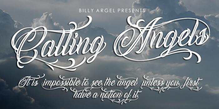 Calling Angels Font poster