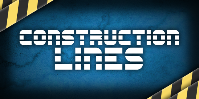 Construction Lines Font poster