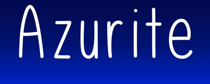 Azurite Font poster
