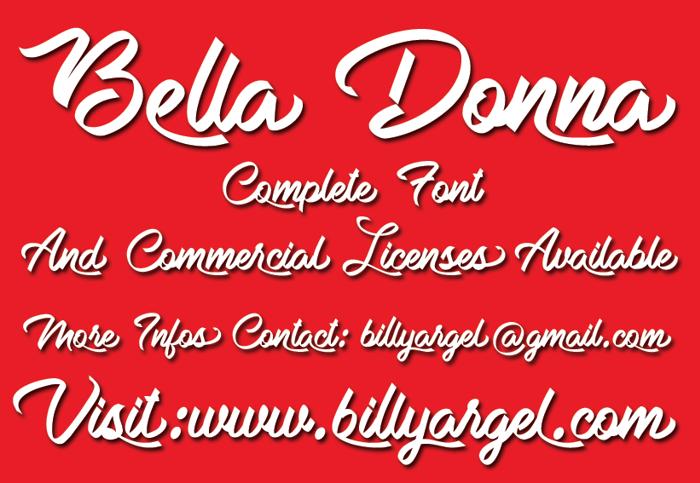 Bella Donna Font poster