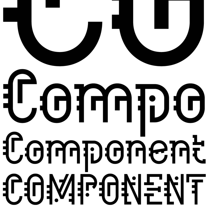 Component Font poster